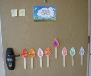 חנוכיית דלת הכניסה שלנו - נר שביעי של חנוכה
