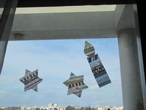 מדבקות washi tape בצורת כוכבים ונר