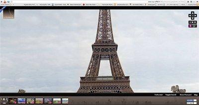 תצוגה של 360מעלות באתר של מגדל אייפל