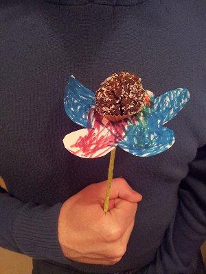 פרח מכדור שוקולד