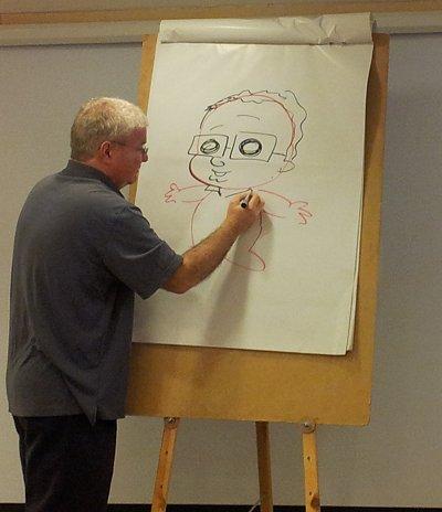 אורי פינק מצייר את אורי פינק