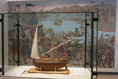 דגם של ספינה צלבנית
