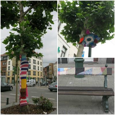 yarn bombing בבריסל